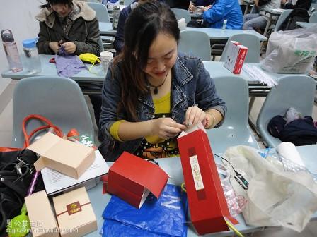 圣诞树手工制作 塑料袋
